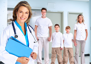 Medical Professional and Family